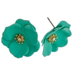 Jewelry - Mint Flower Studs